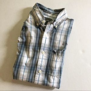 Sale! Abercrombie & Fitch Muscle Plaid Button Down